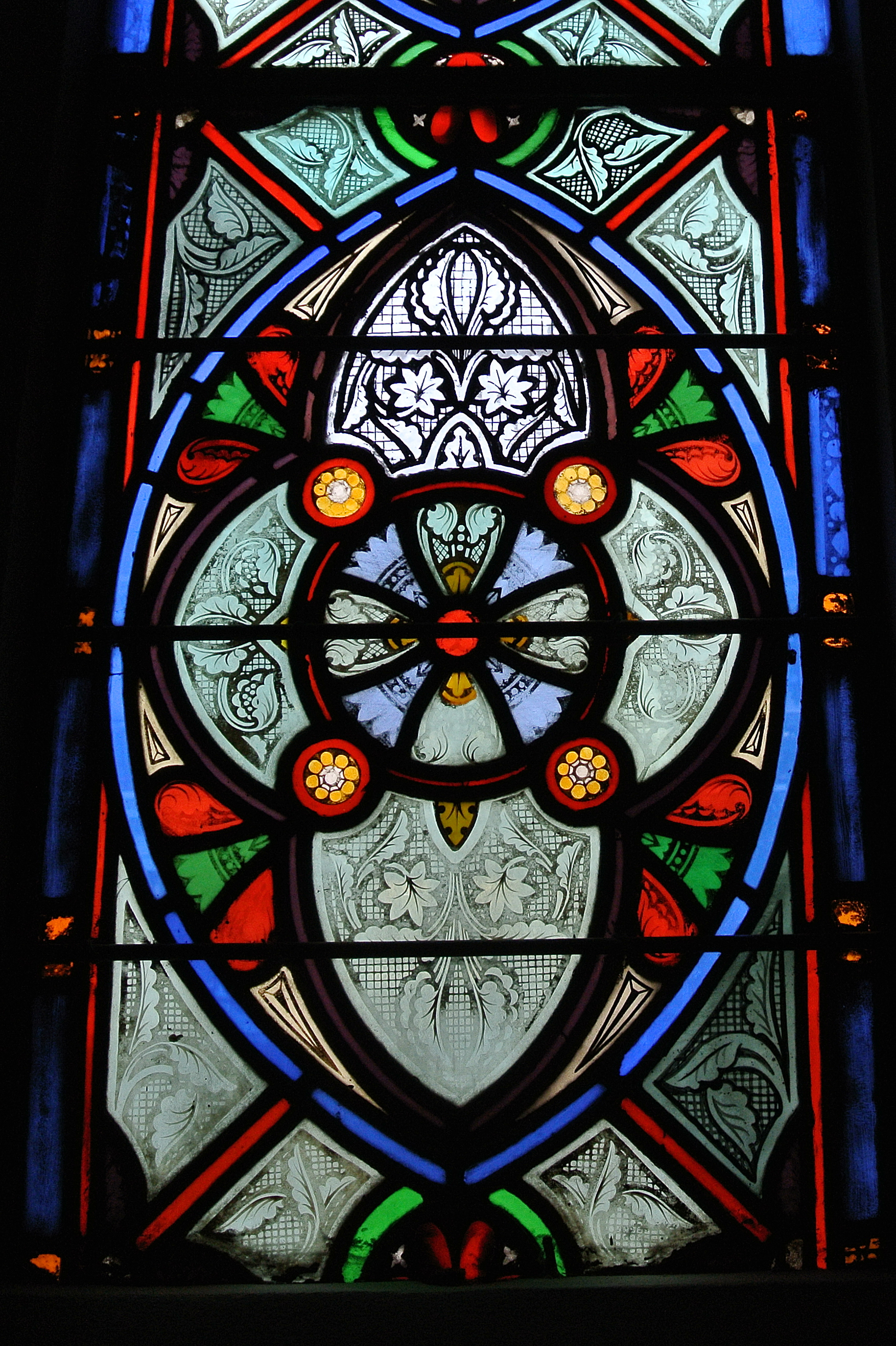 Henry Sharp Studio, Detail Of Grisaille In Side Window, 1871 72, Trinity  Cathedral, Episcopal, Pittsburgh.