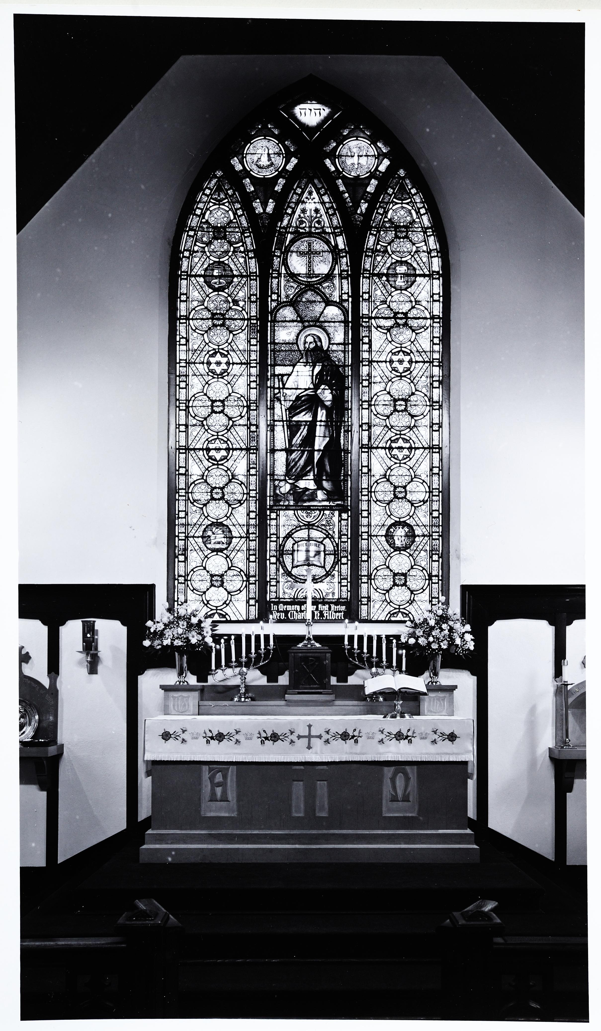 Unidentified American Studio, St. Paul And Symbols Probably 1870, Chancel,  St. Paulu0027s Episcopal Church, Batesville, Arkansas. Photo: Courtesy Of