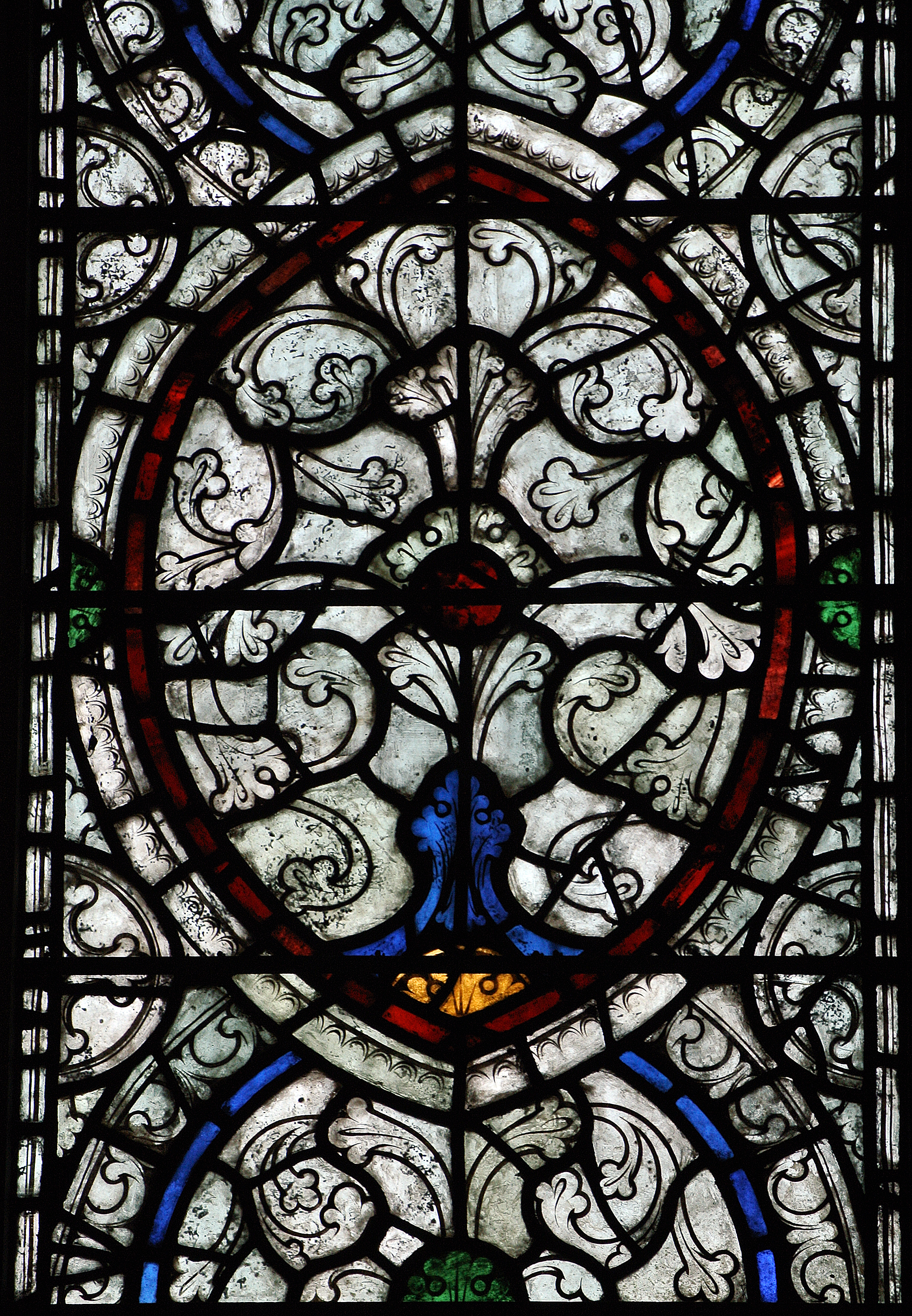 Grisaille Window South Aisle Cathedral Church Of The New Jerusalem 1920s Bryn Athyn Pennsylvania Photo Author