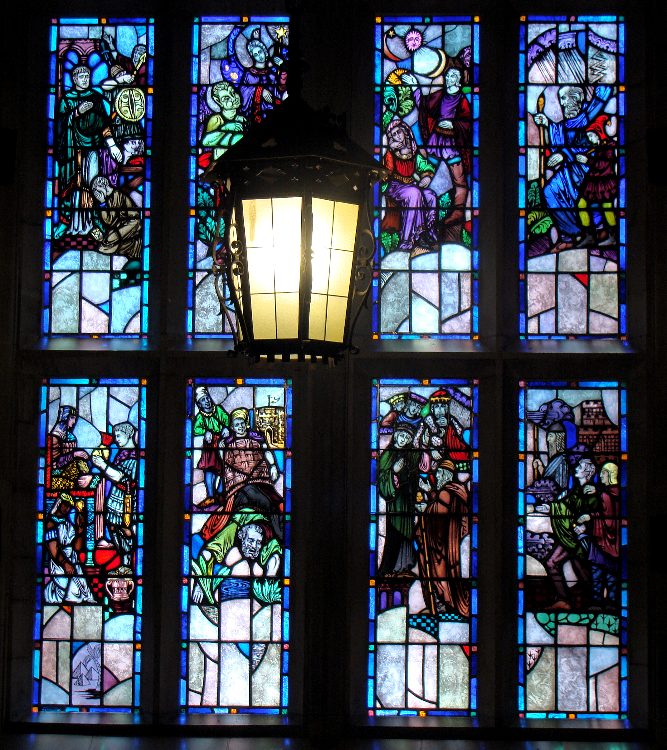 Shakespeare Windows 1924 28 Main Staircase Bapst Library Boston College