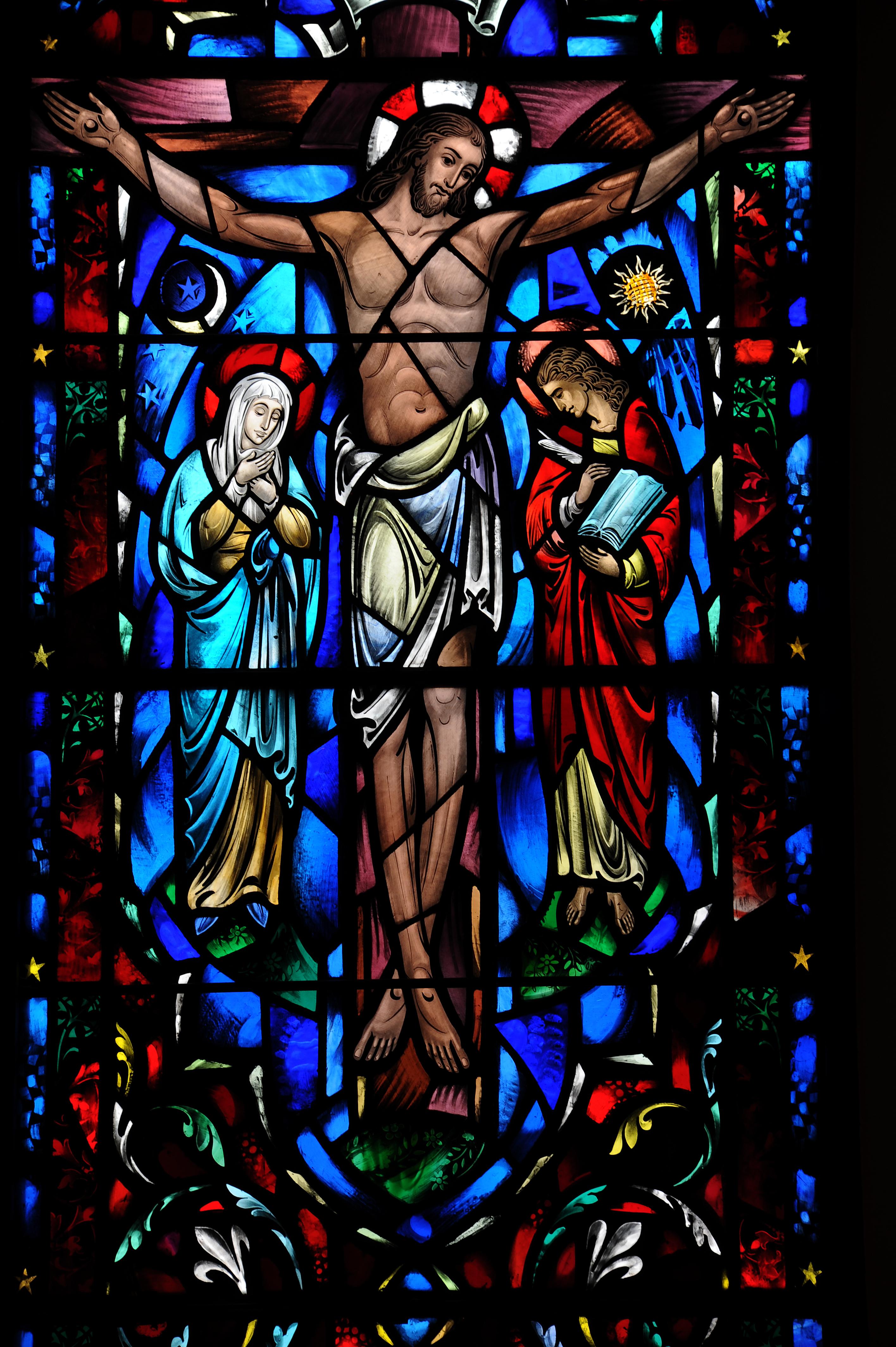 Charles J Connick Studio Crucifixion 1956 Cathedral Church Of Saint Mark Episcopal Salt Lake City