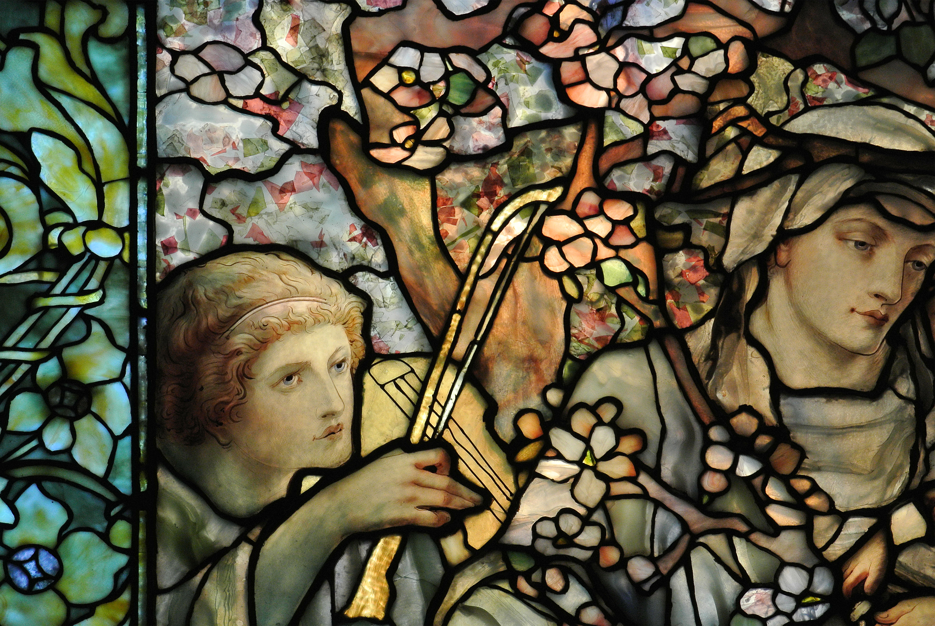 Tiffany Studios Fabrication Madonna Of The Flowers Detail 1899 Arlington Street Church Boston