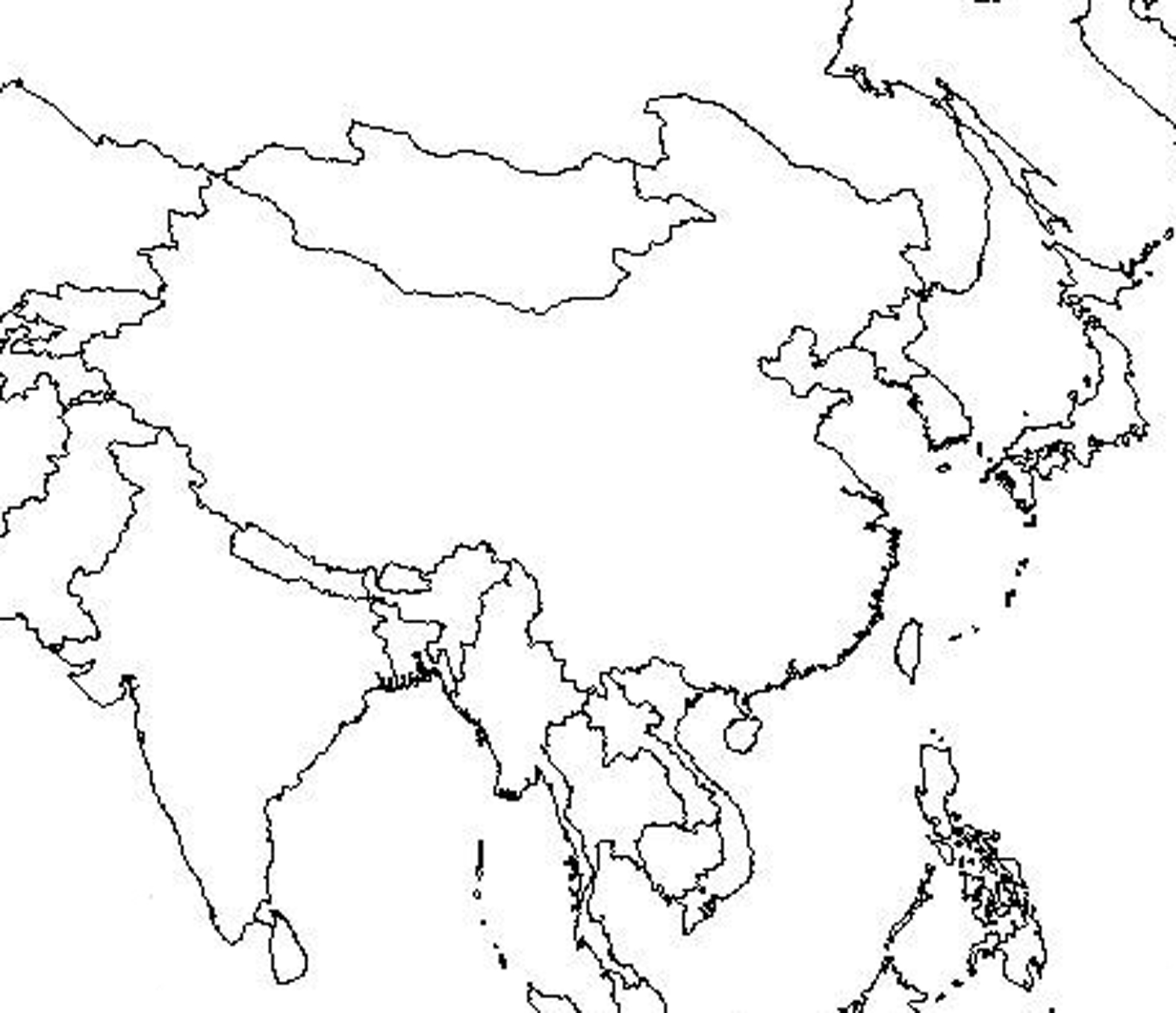 Blank+east+asia+map+outline