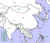 Political Map Of Central And East Asia.The Himalayas An Introduction Using Graphic And Illustration
