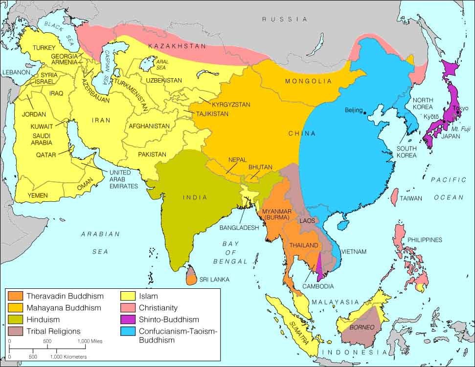 Hinduism Map Population Hinduism Map Asia Religion Map