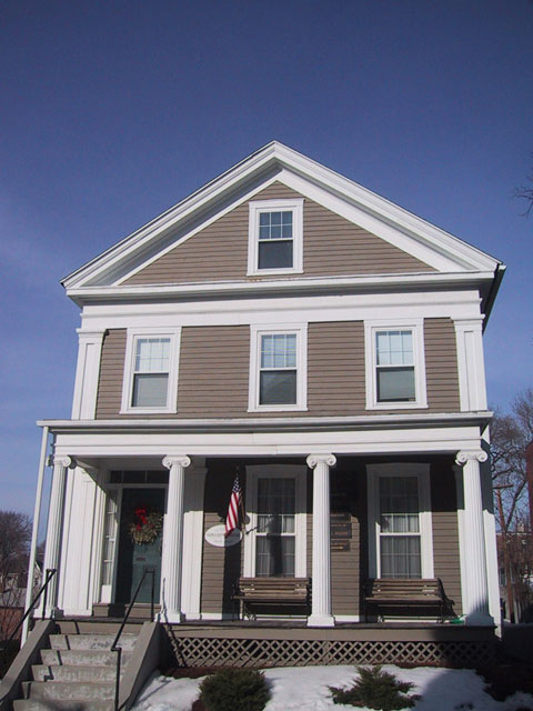 Worcester 39 s greek revival for Greek revival architecture characteristics